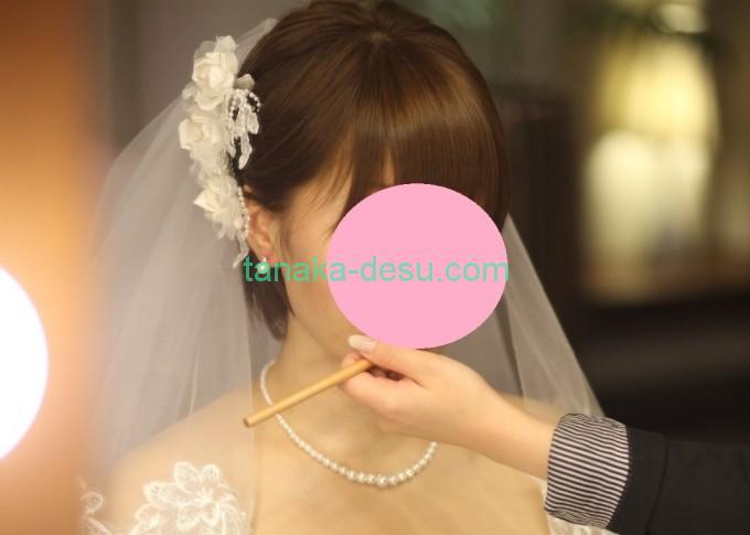 お化粧している花嫁