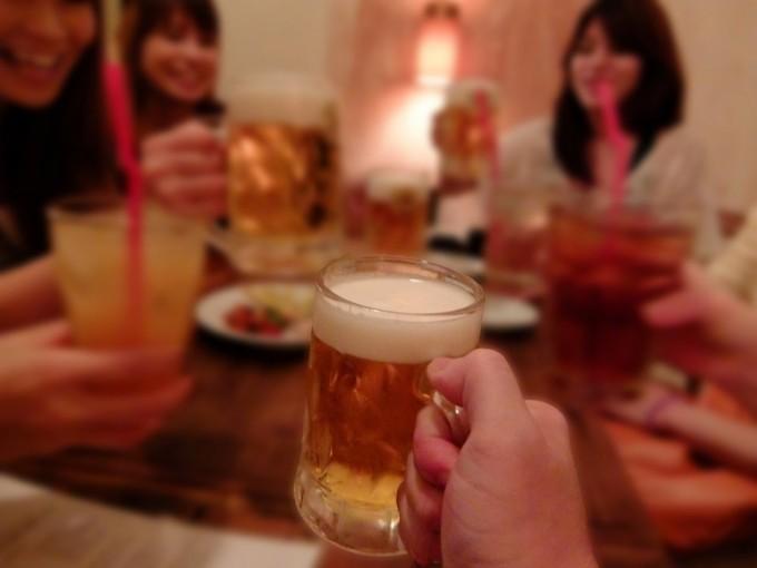 女子会とビール