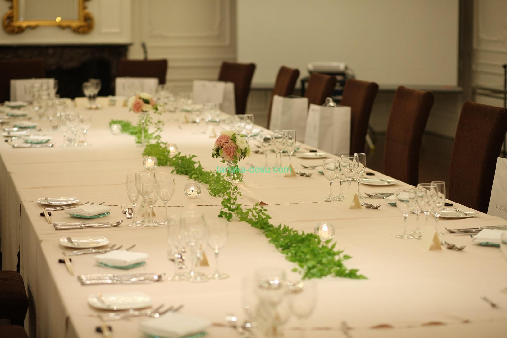 少人数結婚式の座席