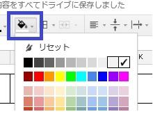 スプレットシートのセルに色を付ける