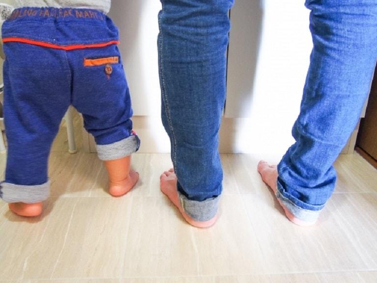 お揃いのジーンズ