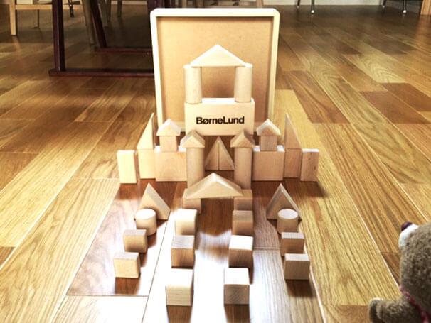 1歳の誕生日プレゼントの積み木