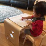 1歳児に家遊び専用のテーブルと椅子を買ってみたら大活躍!