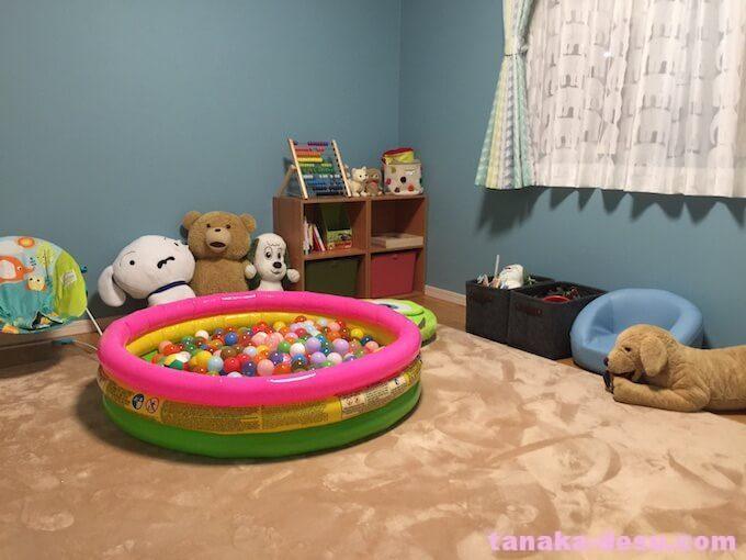 幼児が楽しめるおもちゃ部屋