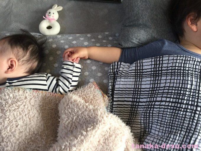 0歳と1歳の年子のお昼寝