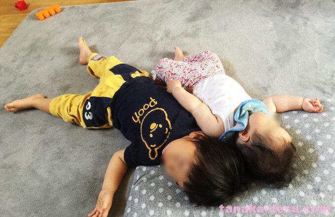 2歳と6ヶ月の年子の昼寝